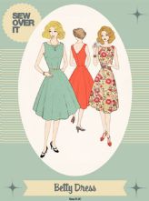 Vintage Style 1950's 'Betty' Dress Pattern